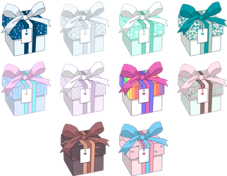 Mystery boxes - Spring edition (CLOSED) by Fireflys-Adopts