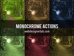 Monochrome Photoshop Actions by xara24