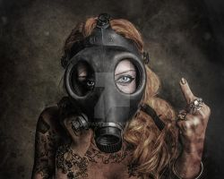 Gas Mask Model Female Zombie Gore by TampaSVT