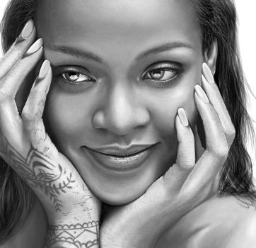 Digital Drawing of Rihanna by JoeDieBestie