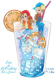 [Harvest Moon] A cool refreshment by Artistic-Something