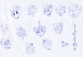 Ultraboy Taro head sketches by YestherDey