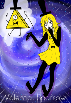 Human Bill-ie Cipher - Gravity Falls fanart by valentia-sparrow