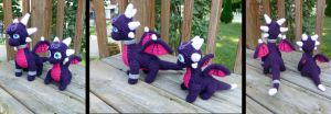 Cynder Dragon and Baby by MilesofCrochet