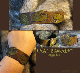 Leaf Bracelet by AThousandRasps
