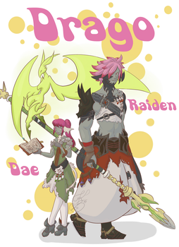 Raiden and Dae commission by Keali