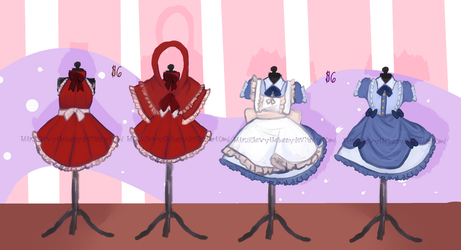 (CLOSED) Fairy Tale Inspired Dress Adopts by ChewyTheBunny