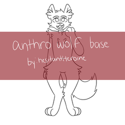 Anthro Wolf P2U Base by hesitantHeroine
