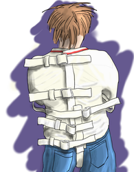 Posey straitjacket back drawing by Plasma-dragon