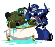 Hound and Mirage  TFN sticker by LyricaBelachium