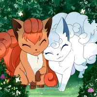 Vulpix - Fox Friends by Ichigochichi