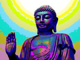 Amidha Buddha Oilified Random colors by trandoductin