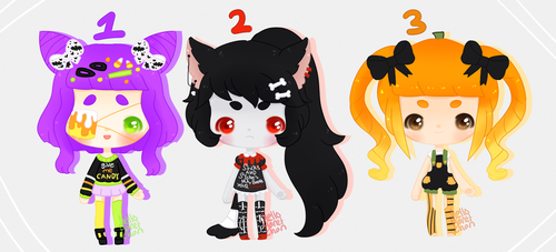 [spooky adopts] - 1/3 by hello-planet-chan