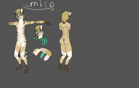 Milo anthro ref sheet by wildwolfboy90