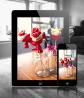Red Rose Cupcake Wallpaper by Justinlite