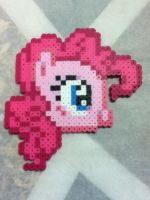 -Perler- Pinkie Pie Head v2 by OtakuLuka
