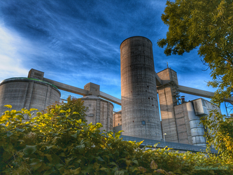 Grey Factory In The Green Nature by HeidiK1