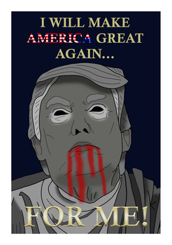 The First American Dictator/Emperor Trump by stevemacqwark