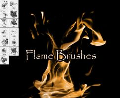 PNG pack for Flame Brushes by SugarBreezy