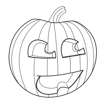 pumpkin drawing color. blaisie 1 4 awesome pumpkin drawing: color me by happylilfairy drawing