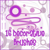 Decorative Brushes III by Akissi