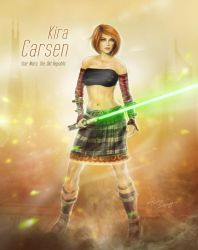 Kira Carsen - Star Wars The Old Republic Game by cylonka