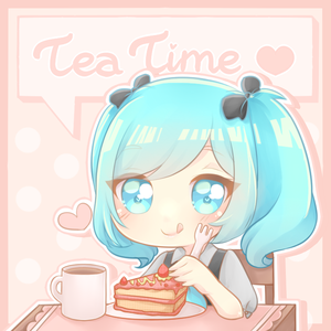 [OC] : YCH Lovely teatime by FluffyQueenz