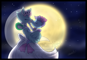 Comm: Blissful Moonlight Kiss by Boltonartist