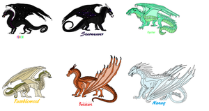 My Wings of Fire Dragonets of Destiny Team by Monkey610