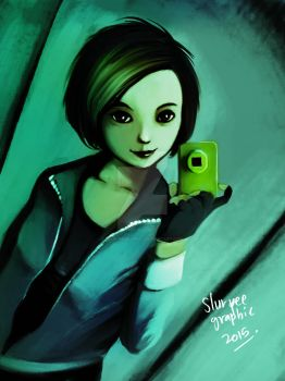 selfie by slurpeegraphic