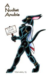 A Nudist Anubis by soappuppy