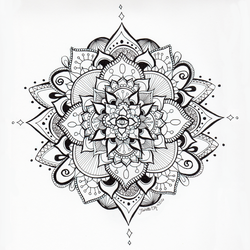 Mandala Eye - Black and White by ArcaneAvis