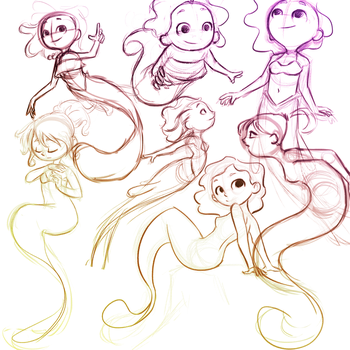 Mermay sketches by ilustrajean