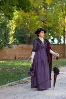 1912 day dress in purple cotton by DanielleFiore