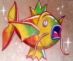 Rainbow Magikarp in Kraft by ChicoKawaii94