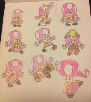 My Toadette drawings by Prince5s