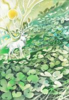 White Stag by golden-quince