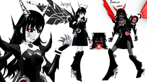 [MMD] Mecha Alice Angel Gijinka UPDATED (BATIM) by DrStinger