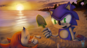 Sonic And Knuckles: Mermaid Beach by DoubleDandE