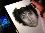 Drawing of Billie Joe Armstrong WIP 3 by D17rulez