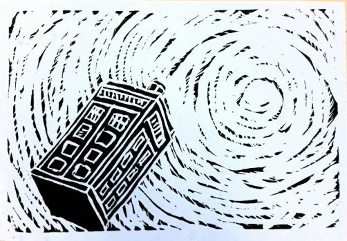 TARDIS in the Time Vortex by TheEdamame