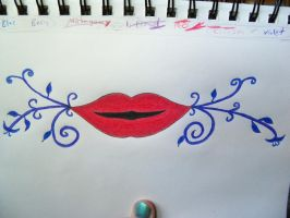 Swirling Lips by CupcakeInsurgent