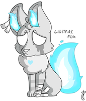 Ghostfire Fox(Commission) by CandyPixelCat