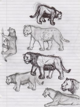 Pleistocene felid ideas by AnonymousLlama428