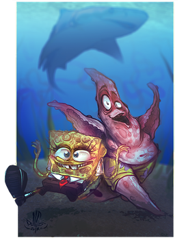 Spongebob and Patrick by DollCreep