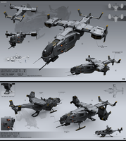 Light VTOL gunship by KaranaK