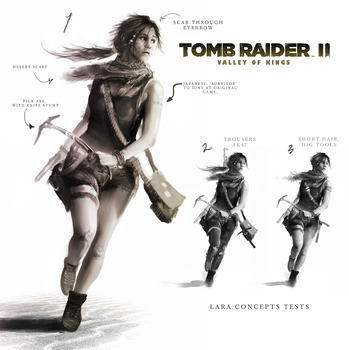 Tomb Raider 2: Valley of the Kings. Lara Concept by TheEnderling