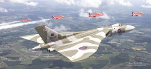 The Last Royal Escort - Avro Vulcan xh558 by rOEN911
