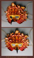 Autumn Raptor - Leather Mask by windfalcon