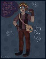 Human Tiny Box Dim by DayByDayArtwork